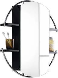 round bathroom mirror cabinets.  Round Round Mirror Cabinet U0026 Shelves Black 740mm Additional Image And Bathroom Cabinets M