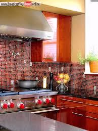 Küche Mosaik Fliesen Rote Akzente - YouTube