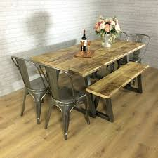Industrial Rustic Calia Style Dining Table Vintage Looking Kitchen