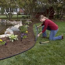 plastic garden bed edging