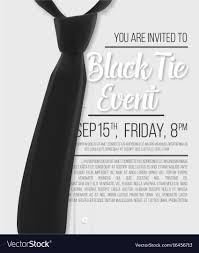 Realistic White Shirt Black Tie Event Invitation Vector Image