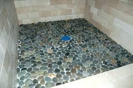 shower stone tile natural cleaner pebble tiles bathroom