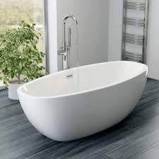freestanding baths. affine blanc freestanding bath 1700mm with built-in waste baths e