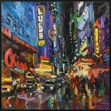 opening night on broadway in new york city james kerr captures the flickering light