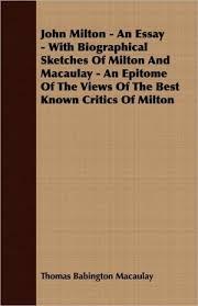 john milton essay bol com an essay on the prose of john milton j vodoz