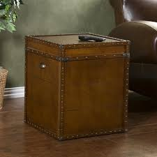 Steamer Trunk Furniture Home Decorators Collection Steamer Trunk Walnut Trunk End Table