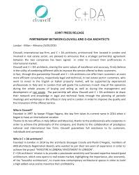 Partnership Agreement Between Companies Partnership With C Da Architects Clouvell