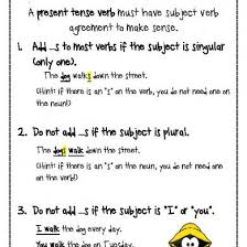 Subject And Verb Agreement Anchor Chart Subject Verb Agreement Anchor Chart D49ow3r3w649
