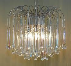 teardrop crystal chandelier at 3 light