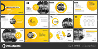 Slide Desigh Presentation Slide Layout Background Design Yellow Orange