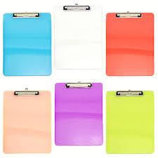 Details About 6 Pack Colorful Plastic Transparent Clipboard Sets Desk Office Supplies Bulk