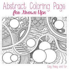 Free Abstract Coloring Page For Adults Easy Peasy And Fun