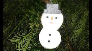 Diy Christbaumschmuck Weihnachtsbaumschmuck Selber Basteln Schneemann Bastelanleitung