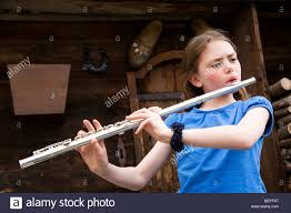 College teen flautist lifestyle arts