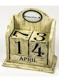 rxc001 1 cream perpetual desk block calendar
