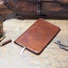 oak bark tanned leather large moleskine notebook