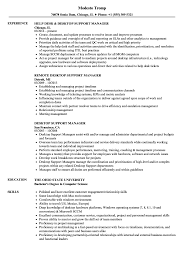 It Desktop Support Resume Desktop Support Manager Resume Samples Velvet Jobs 24
