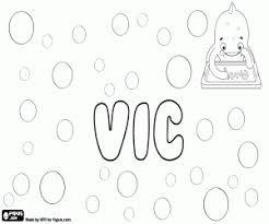 Kleurplaat Vic Unisex Verkleinwoord In Het Engels Kleurplaten