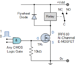 relay switch circuit and relay switching circuit logic controlled relay switch circuit