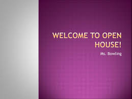 Open House Powerpoint Ppt Welcome To Open House Powerpoint Presentation Id