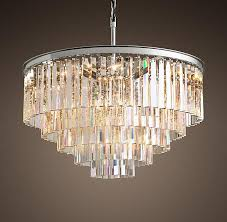 odeon round crystals 5 tier chandelier