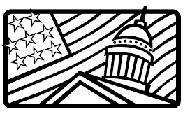 Small Picture And Usa Flag Coloring Pages White House Bebo Pandco