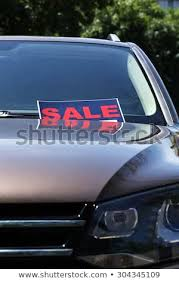 For Sale Sign On Car Sale Sign On Windshield Car Stock Photo Edit Now 304345109