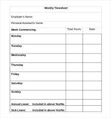 Employee Weekly Time Sheet Bi Weekly Timesheet Template Template Business