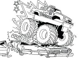 Monster Truck Grave Digger Coloring Pages At Getdrawingscom Free