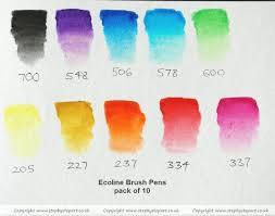 Royal Talens Ecoline Brush Pens Article Step By Step Art
