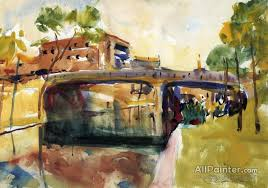 charles w hawthorne paintings for the bridge at san antonio