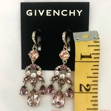 blush crystal chandelier earrings larger image