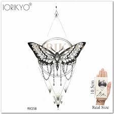 Iоригинальная галактика черный орел временные тату наклейки для женщин рука