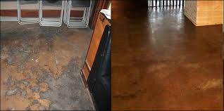 stained concrete patio before and after. Before And After Decorative Concrete Flooring Stained Patio