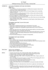 Enterprise Software Resume Samples Velvet Jobs