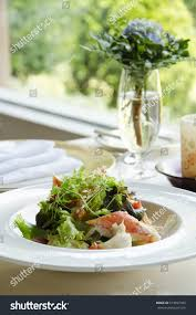 King Crab Salad On Table Stock Photo ...
