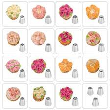 Russian Piping Tips 20 Pcs Ymiko Russian Nozzles Piping Tips With 20 Disposable Piping Bags 2colour Coupler Cake Decorating Set Kit For Cake Cupcake