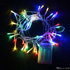 20 Led Lights Battery Operated Outdoor Indoor Festival String Lights 2m 20 Led Colorful Led String Lights Battery Operated Christmas String New Year Wedding Decorations String Bulb
