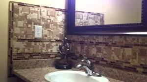 New Bathroom Backsplash Mosaic Glass Stone Tile Mable Install Best - Tile backsplash in bathroom