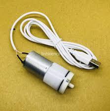 Bơm oxy mini chạy pin 3v - 6v kèm 1m ống đá sủi cáp USB dùng nguồn sạc dự  phòng