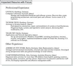 Experience Resume Synonym In A Separate Your Relevant Job From Other Interesting Strong Synonym Resume