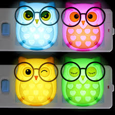 mini owl light led animal nightlight auto control sensor lamp child kids baby soft lights bedroom lighting wall light lamp children led animals owl light