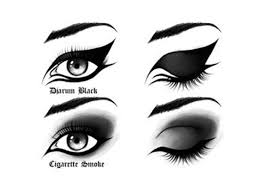 diarum black cigarette smokey eye makeup