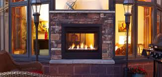 modern gas stove fireplace. Twilight Modern Exterior View With Basic Front Gas Stove Fireplace