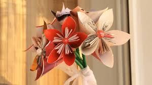 Paper Origami Flower Bouquet Paper Flower Bouquet Diy Origami Flower Tutorial Youtube