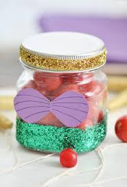 little mermaid party favors diy glitter jar