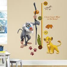 the lion king rafiki height chart wall stickers