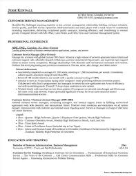Samples Resumes For Customer Service Manager Resume Sample Of