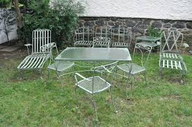 wrought iron wicker outdoor furniture white. Used Lawn Furniture Patio Wrought Iron Wicker Outdoor White