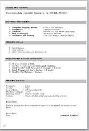 it fresher resume format in word throughout resume samples for freshers freshers resume formats